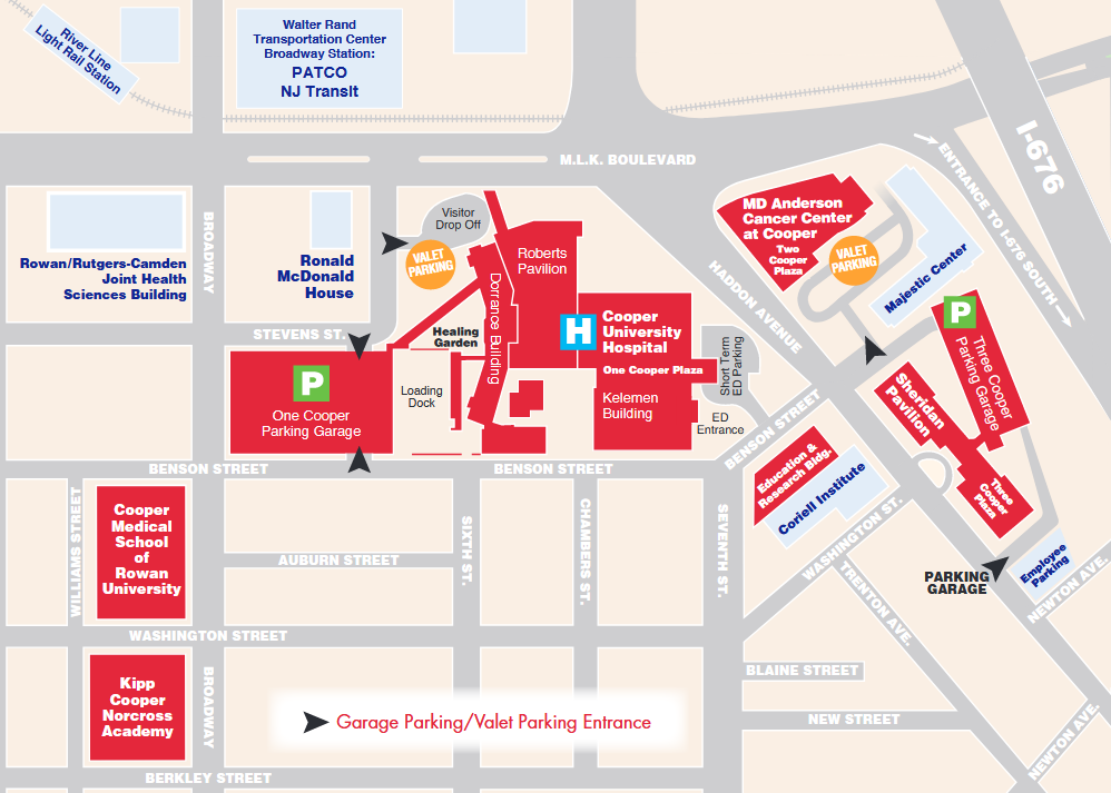 md anderson campus map Md Anderson Cancer Center At Cooper Cooper University Health Care md anderson campus map
