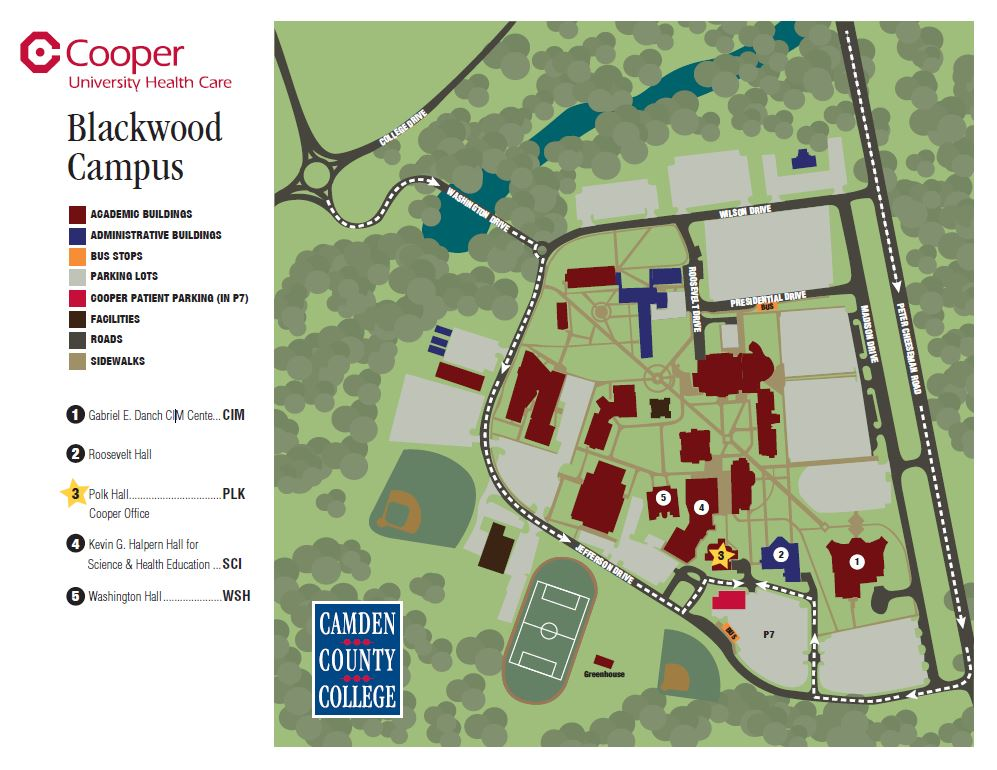 Cooper Primary and Specialty Care at Camden County College map