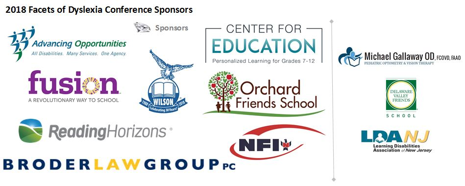 2018 Facets of Dyslexia Sponsors