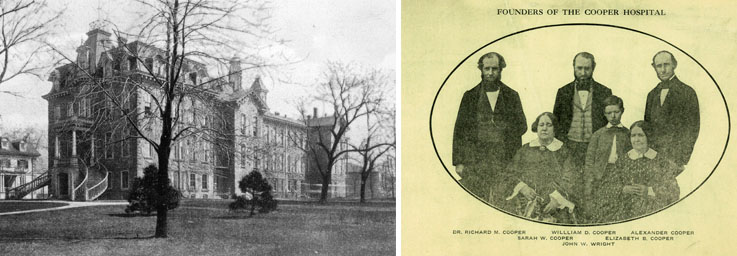 first hospital building and founders