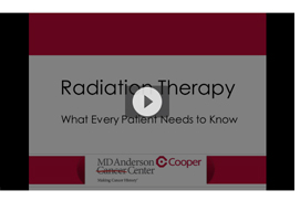 radiation therapy video