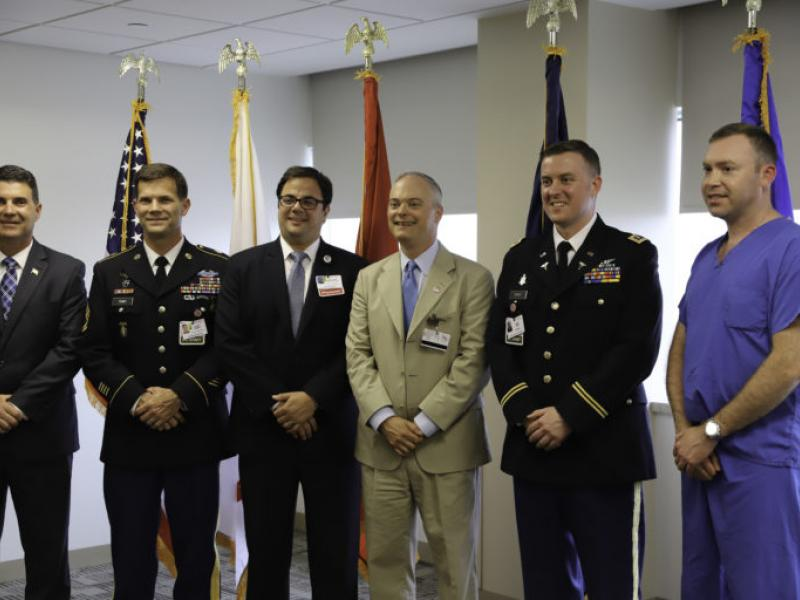 "Cooper Honors Trauma Surgeon With ""Military Employee of the Year"" Award"