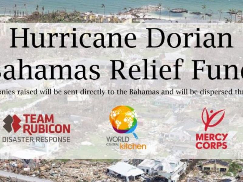 Hurricane Dorian Bahamas Relief Fund graphic image