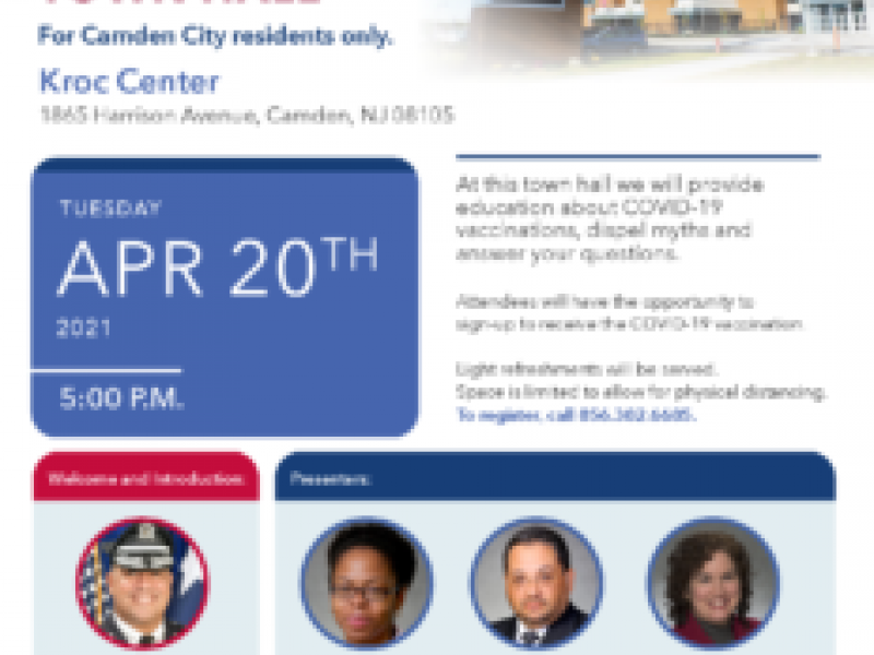 Cooper University Health Care to Hold COVID-19 Vaccine Town Hall for Camden Residents