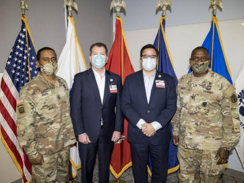 Cooper University Health Care Hosts Visit from the U.S. Army Surgeon General