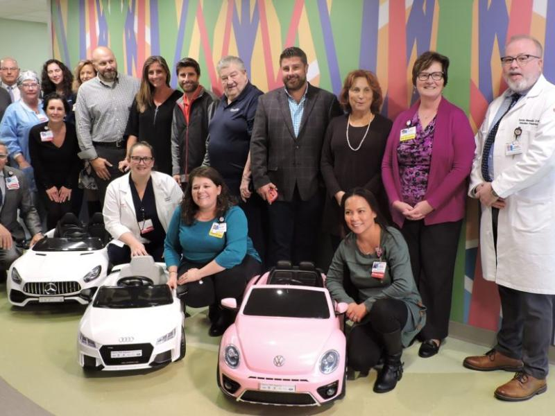 South Jersey Auto Dealer Donates Three Mini Cars for Kids at Cooper University Health