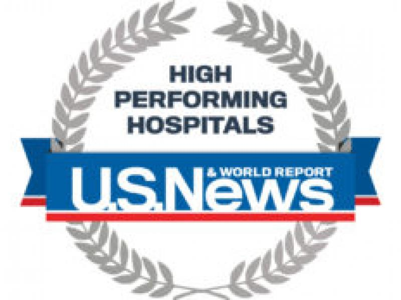 U.S. News and World Report High Performing Hospitals badge
